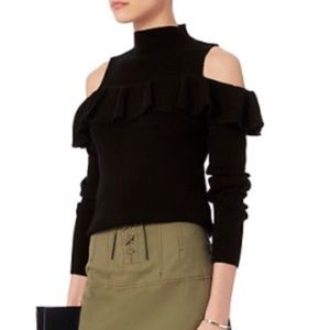 Intermix Kendall Cold Shoulder Ruffle Sweater